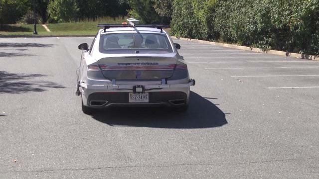 A driverless car with Perrone Robotics