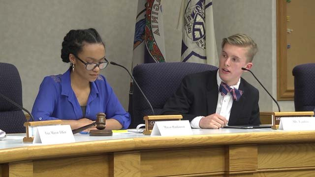 High schoolers in Staunton held a mock City Council meeting