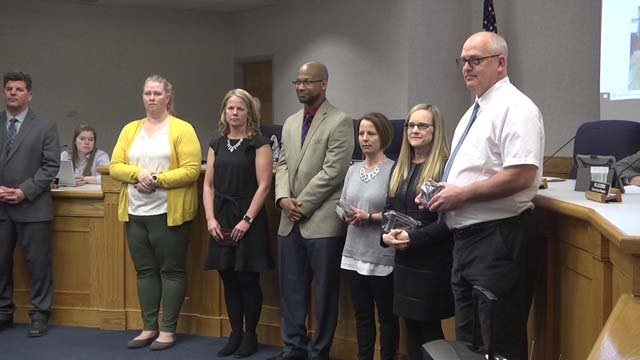 Staunton teachers were also recognized during the meeting