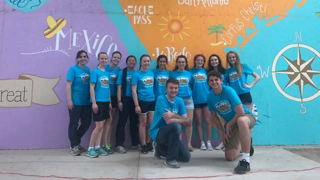 A group of students from Greene County took a mission trip to Texas