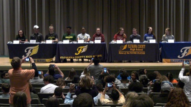 Fluvanna County had the largest signing ceremony in school history on Thursday.