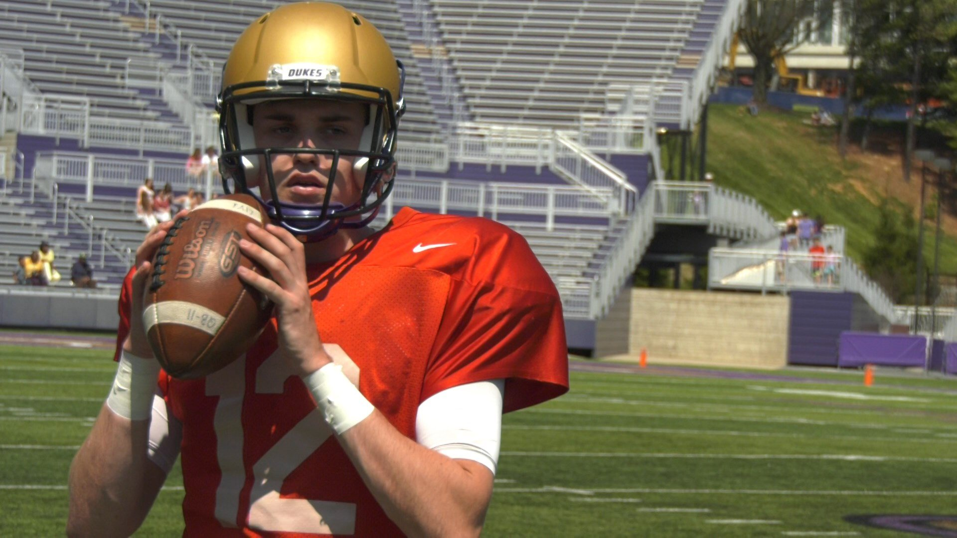 JMU junior quarterback Cole Johnson