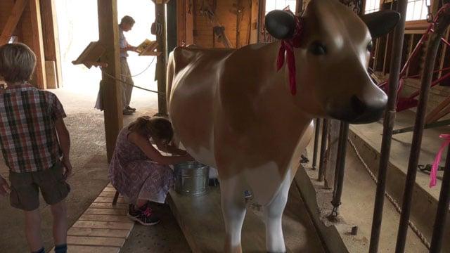 Tillie, the fiberglass cow.