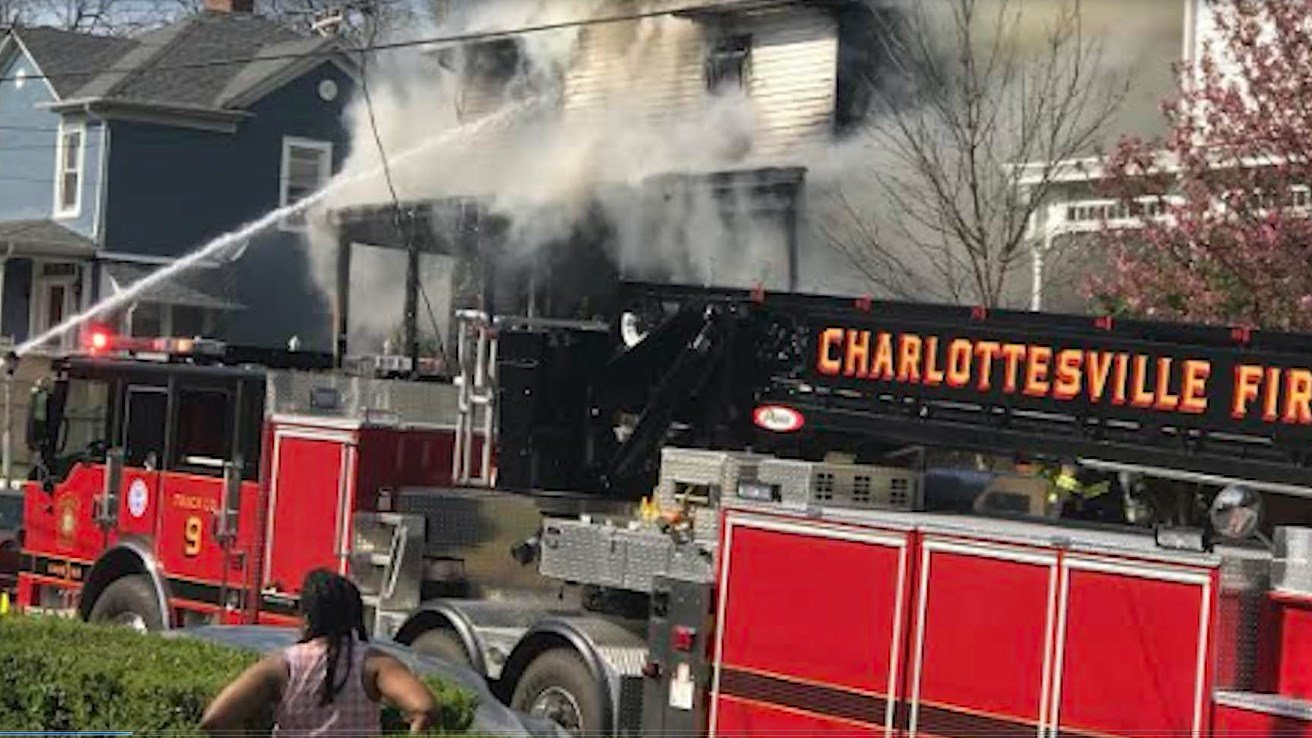 The fire broke out around 4:00 p.m.
