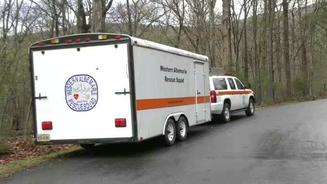 Western Albemarle Rescue Squad Special Operations near the scene of a fatal plane crash