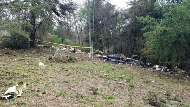 Crash scene in Albemarle County (Photo courtesy Virginia State Police)