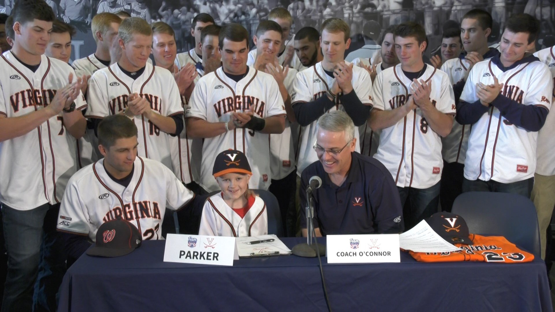 "John ""Parker"" Staples signs with the UVA baseball team"