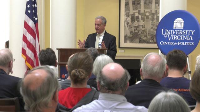 Former Senator Russ Feingold speaking at UVA