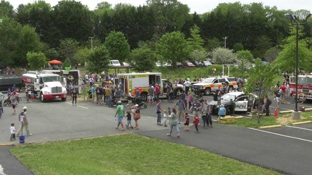 Hundreds of children visited IX Art Park today.