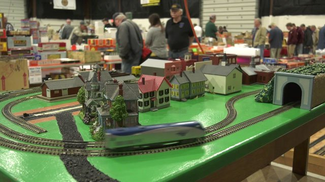 The expo center was filled with model trains.