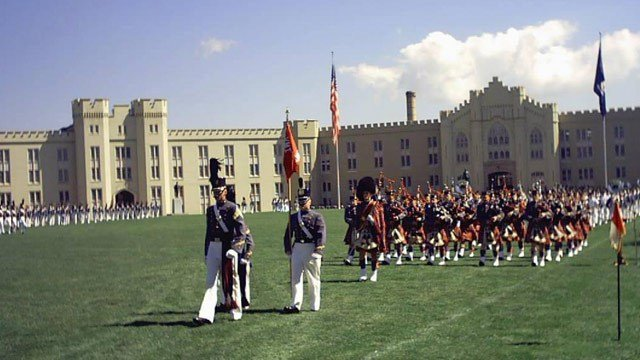 Parade at the Virginia Military Institute (Photo courtesy www.virginia.org )