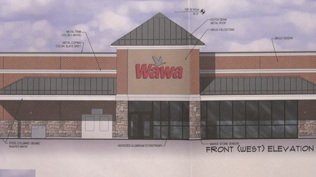 Concept art for Wawa along Route 29