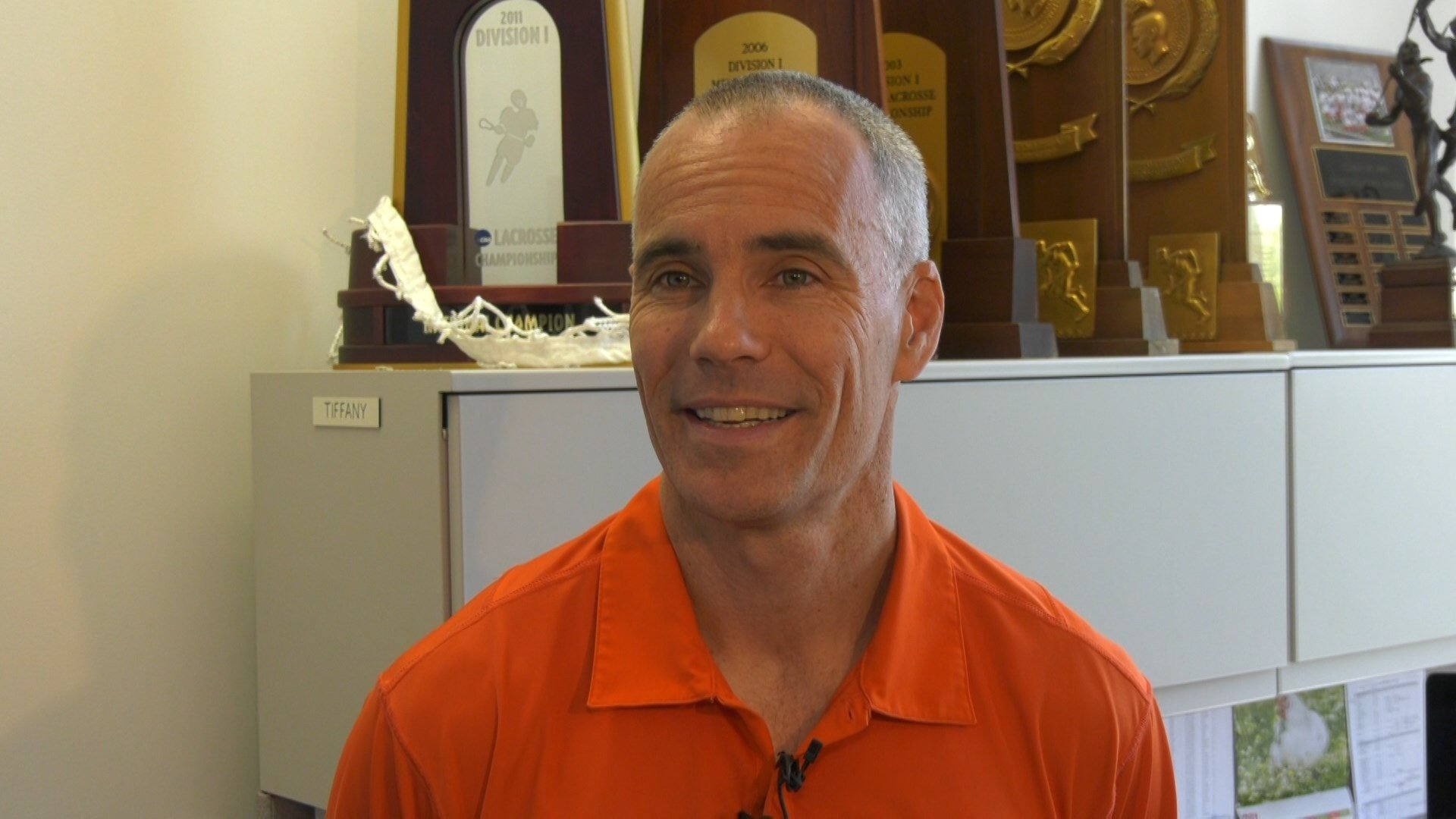 UVA men's lacrosse coach Lars Tiffany