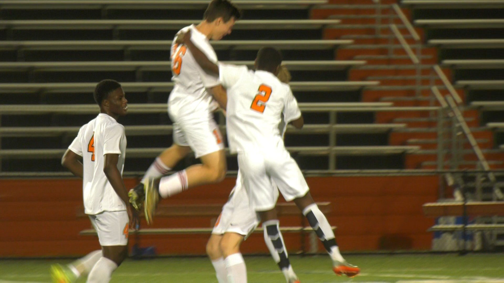 Charlottesville celebrates the only goal of the game from Oliver Barcia