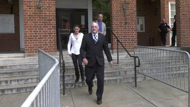 Richard Wilson Preston leaving Charlottesville Circuit Court