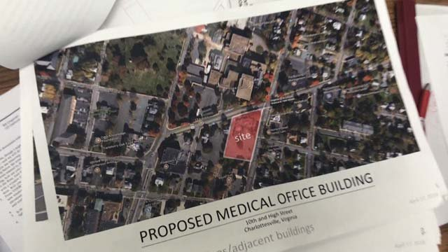 The medical office building was planned for East High and 10th streets