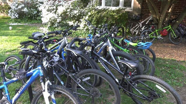 Bicycles outside Venable Elementary School