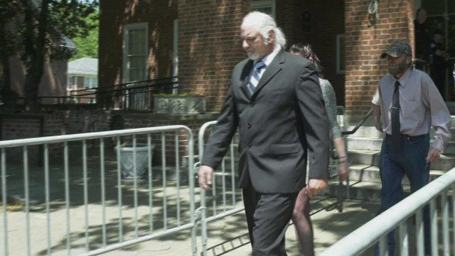 Richard Wilson Preston leaving Charlottesville Circuit Court