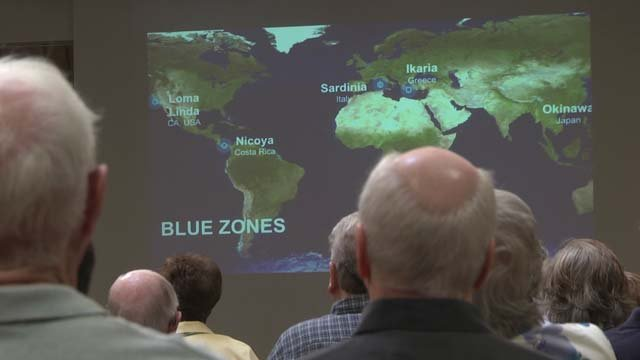 Blue Zones are areas with improved satisfaction in life