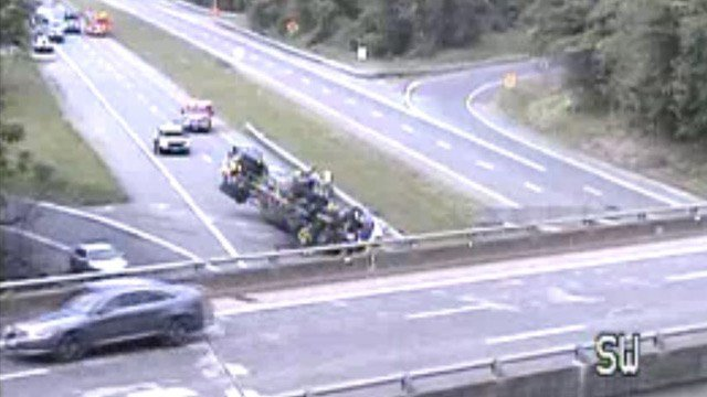 Tractor trailer accident on Route 29 in Albemarle County (Photo courtesy VDOT)