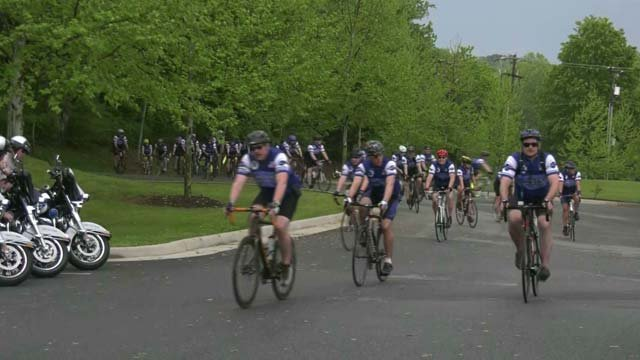 Over 2,000 law enforcement officers are riding through Albemarle