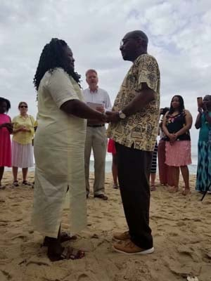 Don and DeTeasa Gathers renewed their vows on the trip