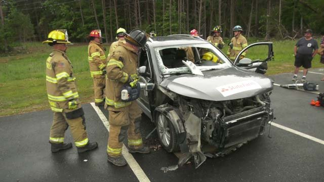 Lake Monticello firefighters practiced saving people from cars on May 16