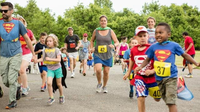 Super Hero Fun Run (Photo courtesy Charlottesville)