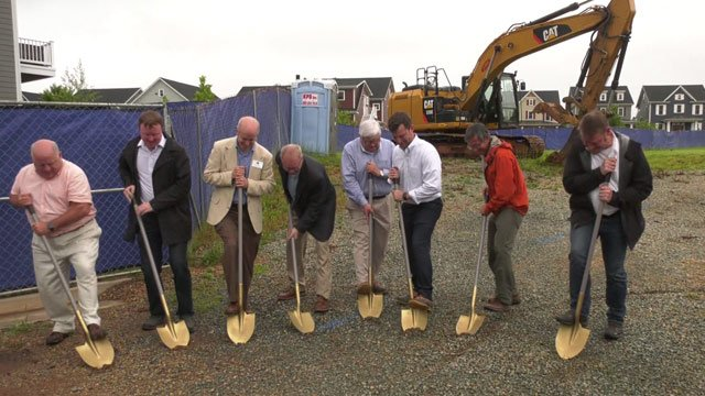Groundbreaking ceremony for the Shops at Riverside Village