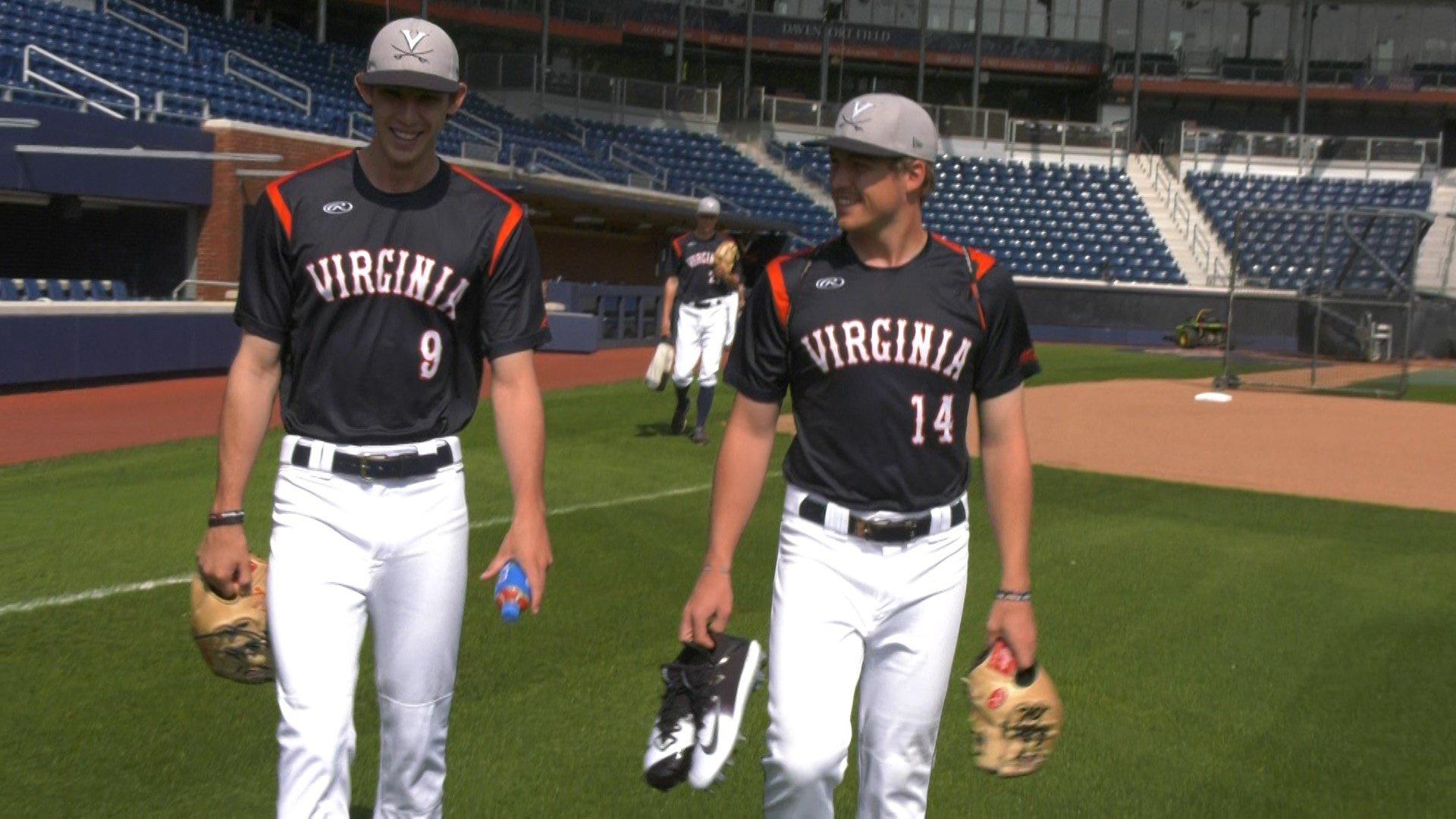UVA pitchers Daniel Lynch and Derek Casey