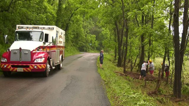 Search for two missing people in the area of Old Ballard Road in Albemarle County