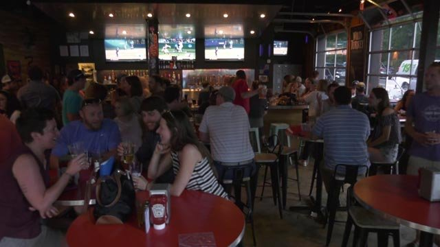 Five breweries competed in the event at Boylan Heights