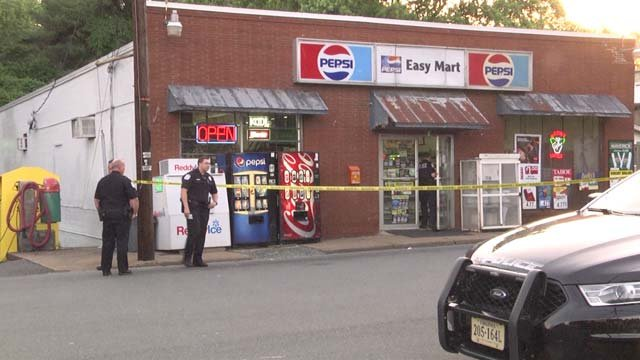 The robbery occurred at Easy Mart on Stewart Street