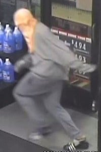 Security footage from a robbery at the BP Station on Fontaine Ave.