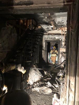 The fire occurred on Saturday night