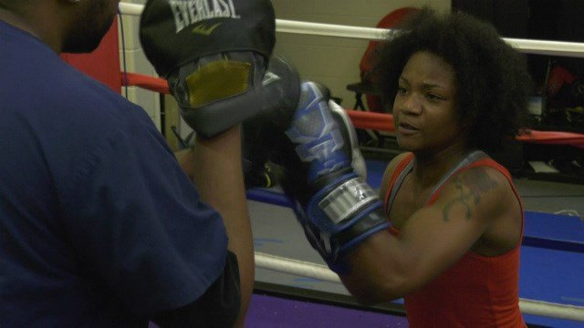 Seventeen-year-old boxer Teaira Skinner