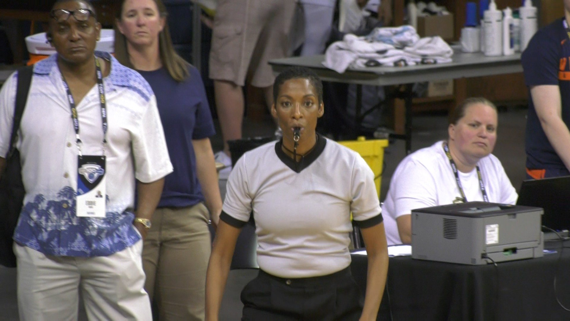 The NBA top 100 camp had females officiating for the first time