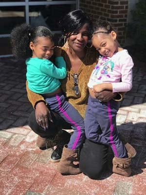 Andrea Carter and her grandchildren