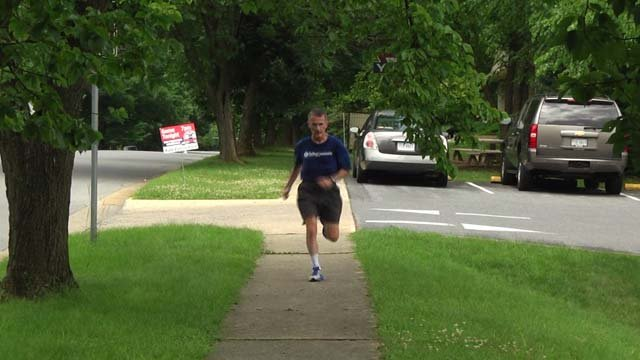 Kevin Lounsbury runs every day no matter the weather