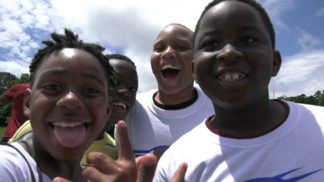It was all smiles at the 5th annual Mike Brown Football Camp