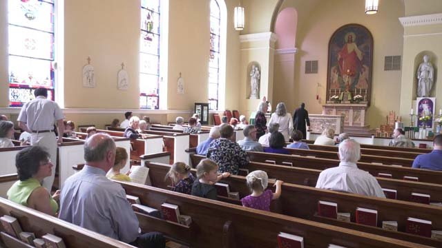 Inside the Catholic Church of the Holy Comforter (FILE IMAGE)