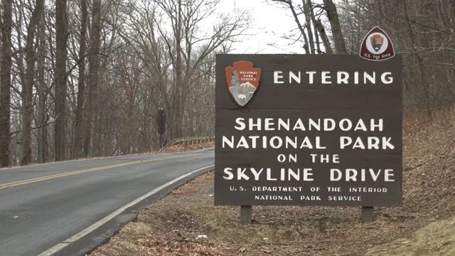 Sign for Shenandoah National Park on the Skyline Drive (FILE IMAGE)
