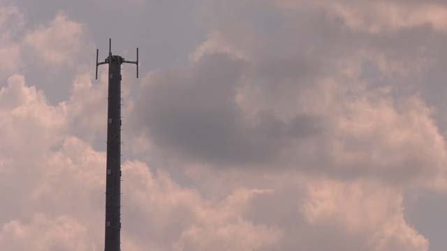 A 135-foot cell tower is located at Albemarle High School