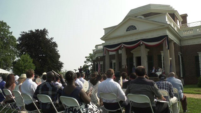 Naturalization ceremony at Monticello