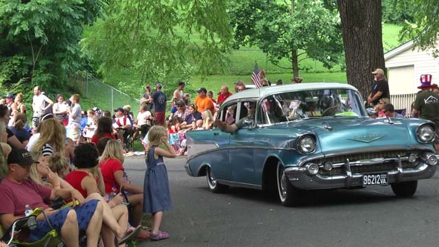 People came out to the parade on July 4