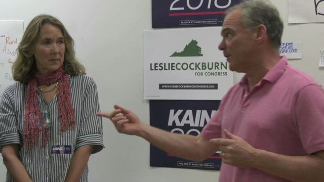 The new office will serve as campaign headquarters for Kaine and Leslie Cockburn.