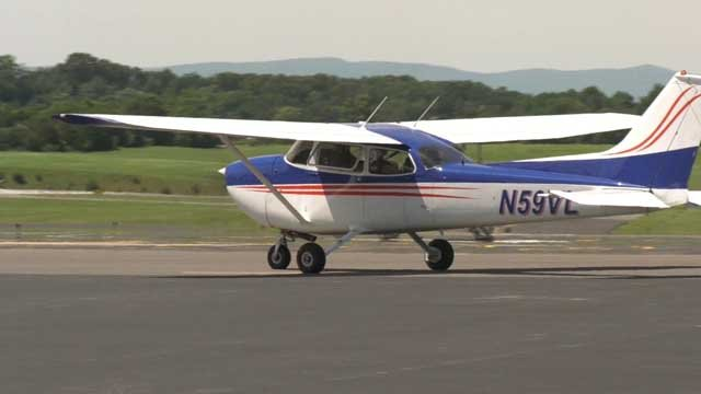 One of the planes at Shenandoah Valley Regional Airport