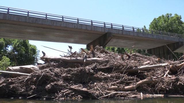 Debris around Crofton Bridge in Fluvanna County (FILE IMAGE)
