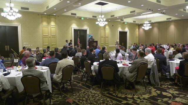 The breakfast was hosted by the Charlottesville Chamber of Commerce