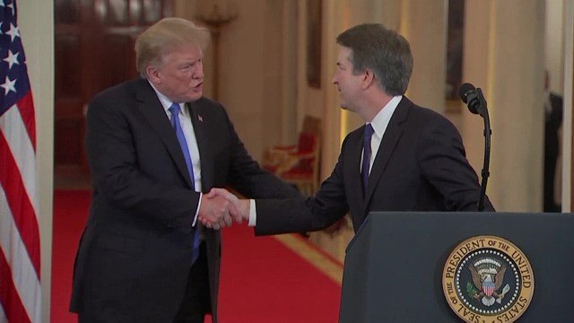 President Trump chose Brett Kavanaugh to fill the vacant seat in the Supreme Court.